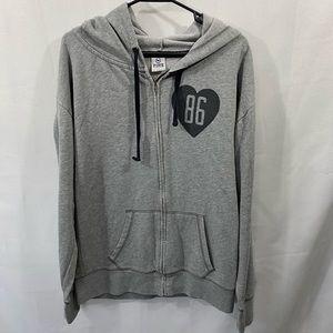 Gray PINK zip up hoodie